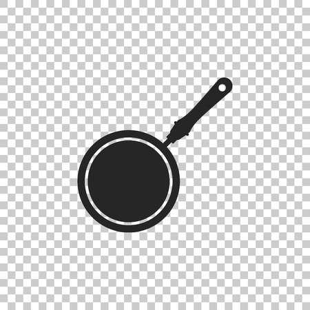 Frying pan icon isolated on transparent background. Flat design. Vector Illustration 版權商用圖片 - 125373175