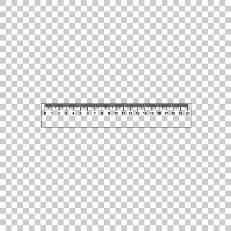 Ruler icon isolated on transparent background. Straightedge symbol. Flat design. Vector Illustration Illustration