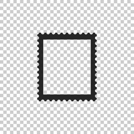 Postal stamp icon isolated on transparent background. Flat design. Vector Illustration Vetores