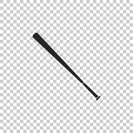 Baseball bat icon isolated on transparent background. Flat design. Vector Illustration