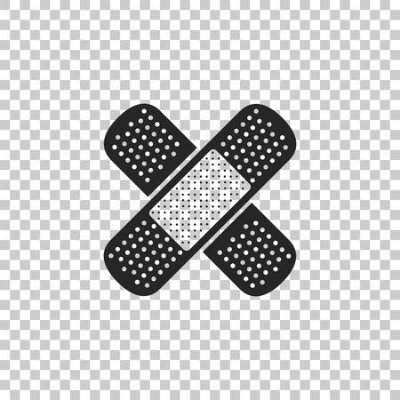 Bandage plaster icon isolated on transparent background. Medical plaster, adhesive bandage, flexible fabric bandage. Flat design. Vector Illustration Standard-Bild - 118482469