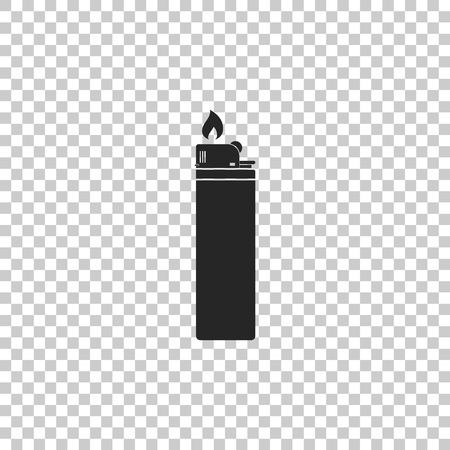 Lighter icon isolated on transparent background. Flat design. Vector Illustration