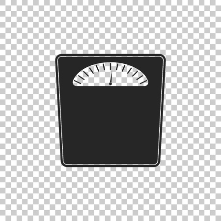 Bathroom scales icon isolated on transparent background. Weight measure Equipment. Weight Scale fitness sport concept. Flat design. Vector Illustration