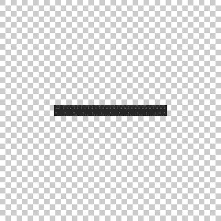 Ruler icon isolated on transparent background. Straightedge symbol. Flat design. Vector Illustration Illustration