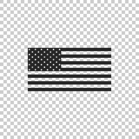 American flag icon isolated on transparent background. Flag of USA. Flat design. Vector Illustration Reklamní fotografie - 118482568