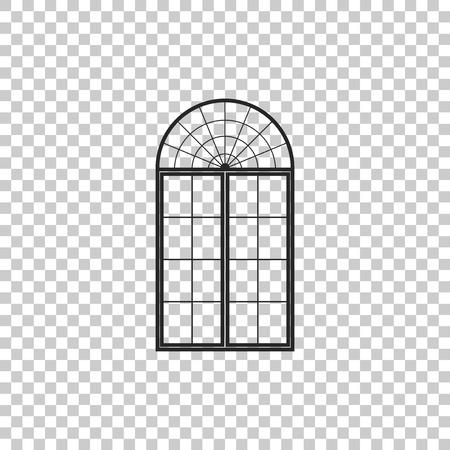Window icon isolated on transparent background. Flat design. Vector Illustration