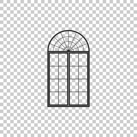 Window icon isolated on transparent background. Flat design. Vector Illustration