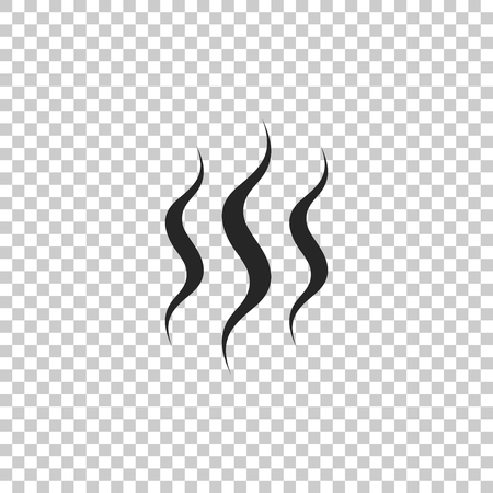 Steam icon isolated on transparent background. Flat design. Vector Illustration