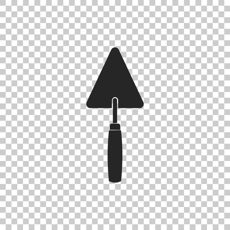 Trowel icon isolated on transparent background. Flat design. Vector Illustration Illustration