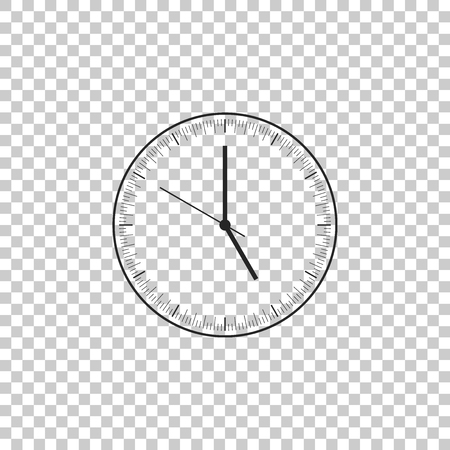 Clock icon isolated on transparent background. Time icon. Flat design. Vector Illustration Çizim