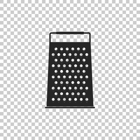 Grater icon isolated on transparent background. Kitchen symbol. Flat design. Vector Illustration  イラスト・ベクター素材