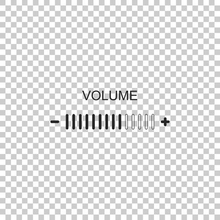 Lautstärkeregelungssymbol auf transparentem Hintergrund isoliert. Flaches Design. Vektorillustration