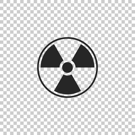 Radioactive icon isolated on transparent background. Radioactive toxic symbol. Radiation Hazard sign. Flat design. Vector Illustration
