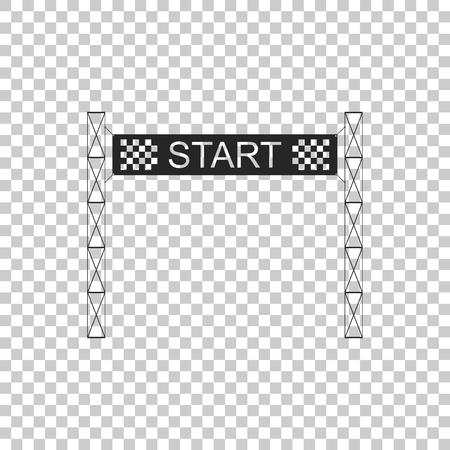 Starting line icon isolated on transparent background. Start symbol. Flat design. Vector Illustration