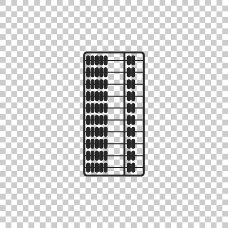 Abacus icon isolated on transparent background. Traditional counting frame. Education sign. Mathematics school. Flat design. Vector Illustration