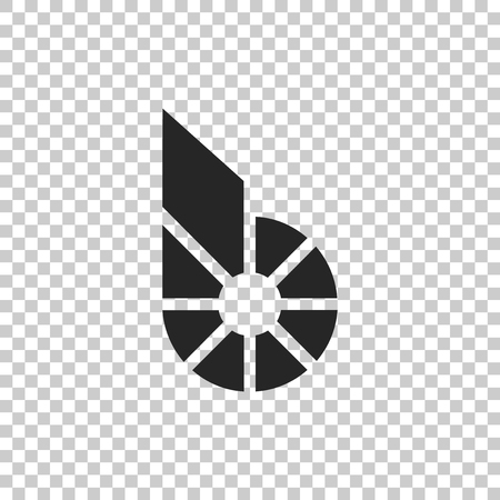 Cryptocurrency coin Bitshares BTS icon isolated on transparent background. Physical bit coin. Digital currency. Altcoin symbol. Blockchain based secure crypto currency. Vector Illustration Vektorové ilustrace