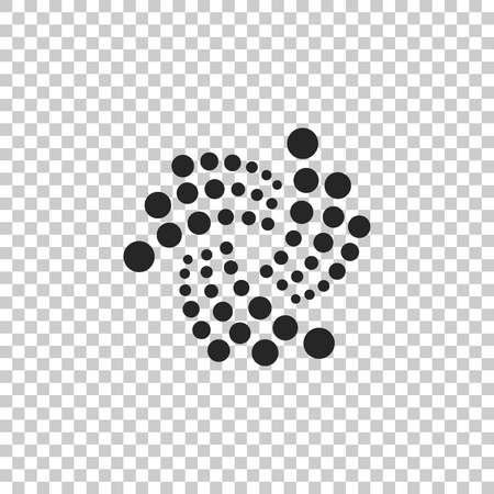 Cryptocurrency coin IOTA MIOTA icon isolated on transparent background. Physical bit coin. Digital currency. Altcoin symbol. Blockchain based secure crypto currency. Flat design. Vector Illustration