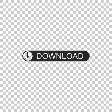 Download button with arrow icon isolated on transparent background. Upload button. Load symbol. Flat design. Vector Illustration Stockfoto - 124993604