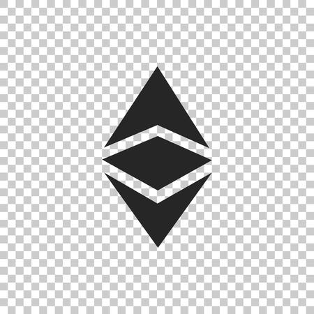 Cryptocurrency coin Ethereum classic ETC icon isolated on transparent background. Physical bit coin. Digital currency. Altcoin symbol. Blockchain based secure cryptocurrency. Vector Illustration Ilustração
