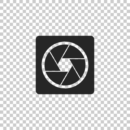 Camera shutter icon isolated on transparent background. Flat design. Vector Illustration