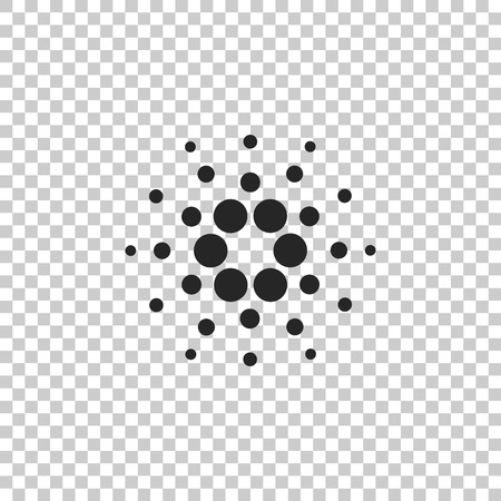 Cryptocurrency coin Cardano ADA icon isolated on transparent background. Physical bit coin. Digital currency. Altcoin symbol. Blockchain based secure crypto currency. Flat design. Vector Illustration