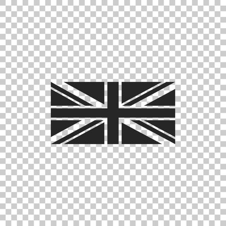 Flag of Great Britain icon isolated on transparent background. UK flag sign. Official United Kingdom flag sign. British symbol. Flat design. Vector Illustration Illustration
