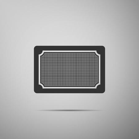 Doormat icon isolated on grey background. Welcome mat sign. Flat design. Vector Illustration