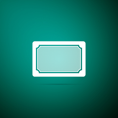 Doormat icon isolated on green background. Welcome mat sign. Flat design. Vector Illustration Ilustração