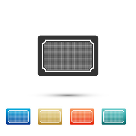 Doormat icon isolated on white background. Welcome mat sign. Set elements in color icons. Vector Illustration Ilustração
