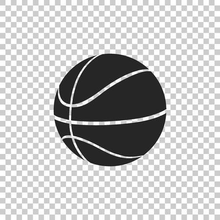 Icône de ballon de basket isolé sur fond transparent. Symbole sportif. Conception plate. Illustration vectorielle