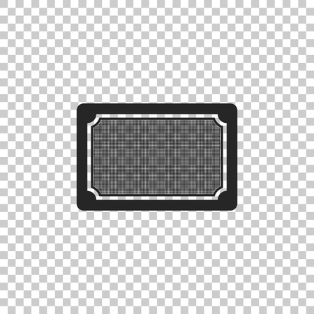Doormat icon isolated on transparent background. Welcome mat sign. Flat design. Vector Illustration