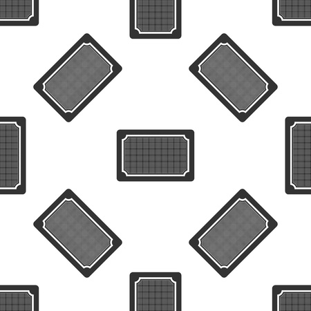 Doormat icon isolated seamless pattern on white background. Welcome mat sign. Flat design. Vector Illustration