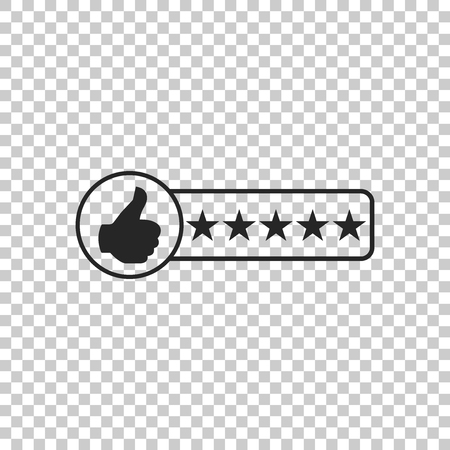 Consumer or customer product rating icon isolated on transparent background. Flat design. Vector Illustration Banque d'images - 123687897