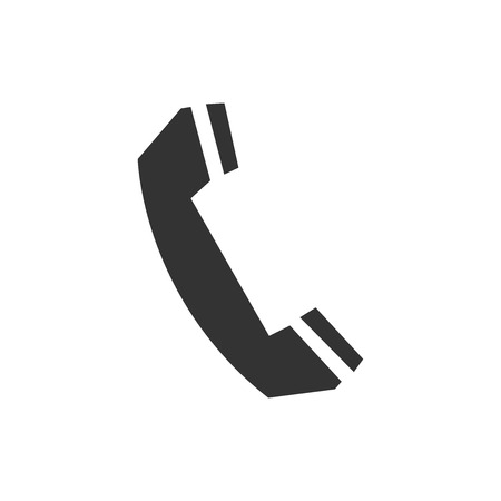 Telephone handset icon isolated. Phone sign. Flat design. Vector Illustration Illustration