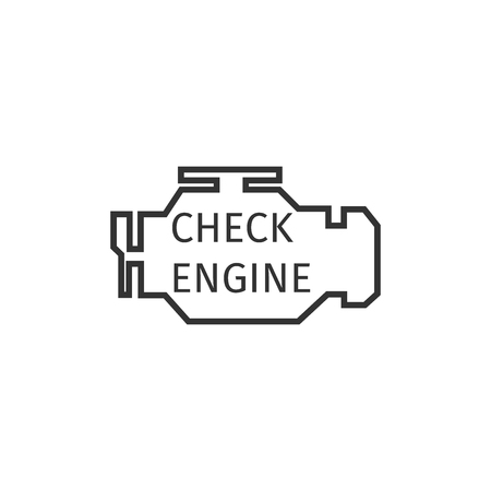 Check engine icon isolated. Flat design. Vector Illustration