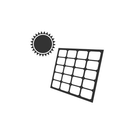Solar energy panel icon isolated. Flat design. Vector Illustration Ilustrace
