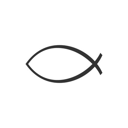 Christian fish symbol icon isolated. Jesus fish symbol. Flat design. Vector Illustration 矢量图像