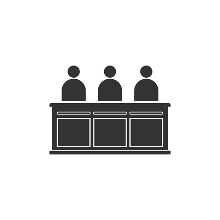 Jurors icon isolated. Flat design. Vector Illustration  イラスト・ベクター素材