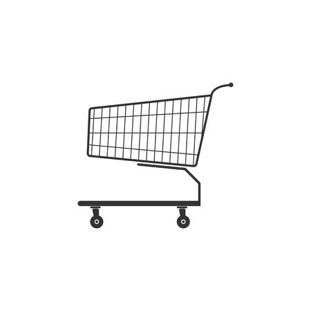 Shopping cart icon isolated. Flat design. Vector Illustration Ilustração