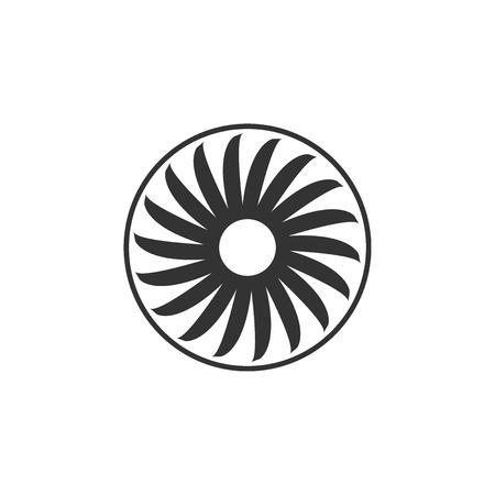 Ventilator symbol icon isolated. Ventilation sign. Flat design. Vector Illustration 向量圖像