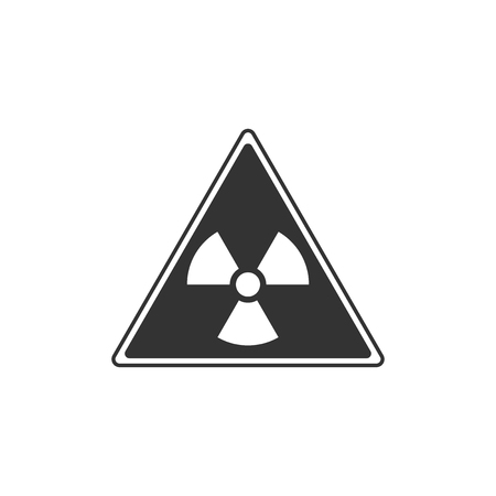 Triangle sign with radiation symbol icon isolated. Flat design. Vector Illustration Imagens - 121734003