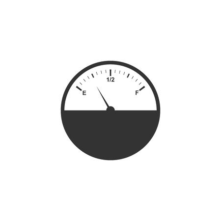 Fuel gauge icon isolated. Full tank. Flat design. Vector Illustration Illustration