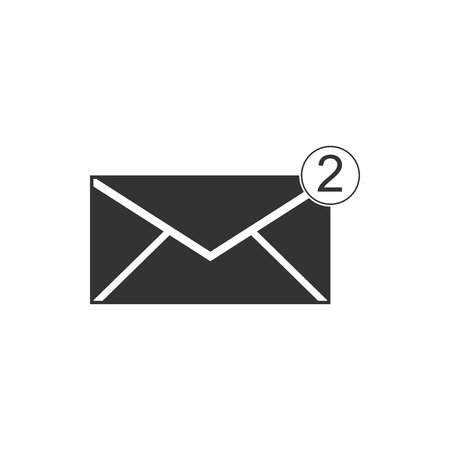 Envelope icon isolated. Received message concept. New, email incoming message, sms. Mail delivery service. Flat design. Vector Illustration