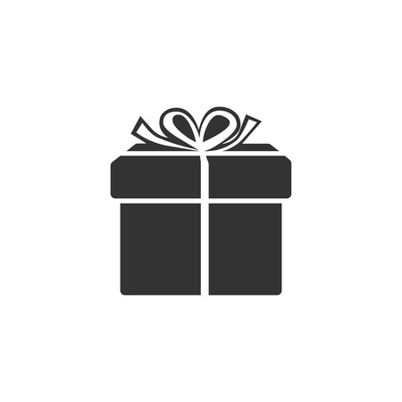 Gift box icon isolated. Flat design. Vector Illustration