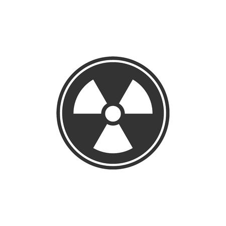 Radioactive icon isolated. Radioactive toxic symbol. Radiation Hazard sign. Flat design. Vector Illustration Ilustração
