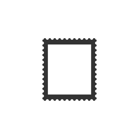 Postal stamp icon isolated. Flat design. Vector Illustration