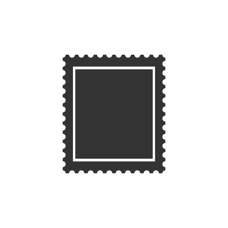 Postal stamp icon isolated. Flat design. Vector Illustration Zdjęcie Seryjne - 122959578