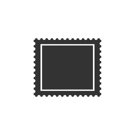 Postal stamp icon isolated. Flat design. Vector Illustration Zdjęcie Seryjne - 122959724