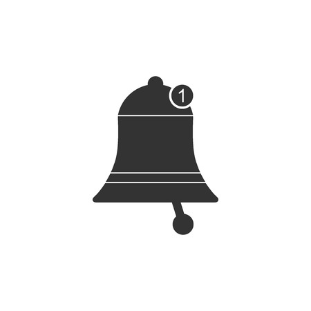 Bell icon isolated. New Notification icon. New message icon. Flat design. Vector Illustration