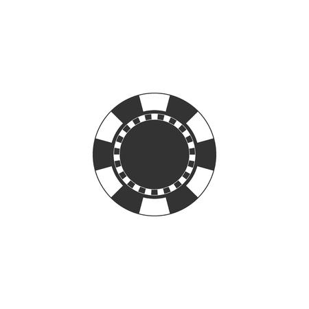 Casino chip icon isolated. Flat design. Vector Illustration